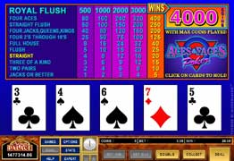 how to play Aces and Faces 50 Play Power Poker-Canada