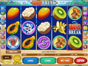 Big Break Casino Game Features.