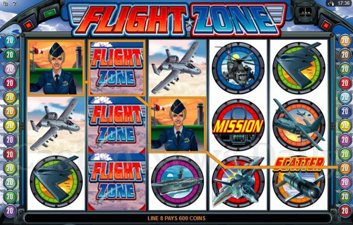 Flight Zone 5-Reel Slot Game