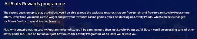 All Slots Loyalty Program