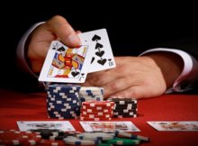 playing cards and chips - PokerStars