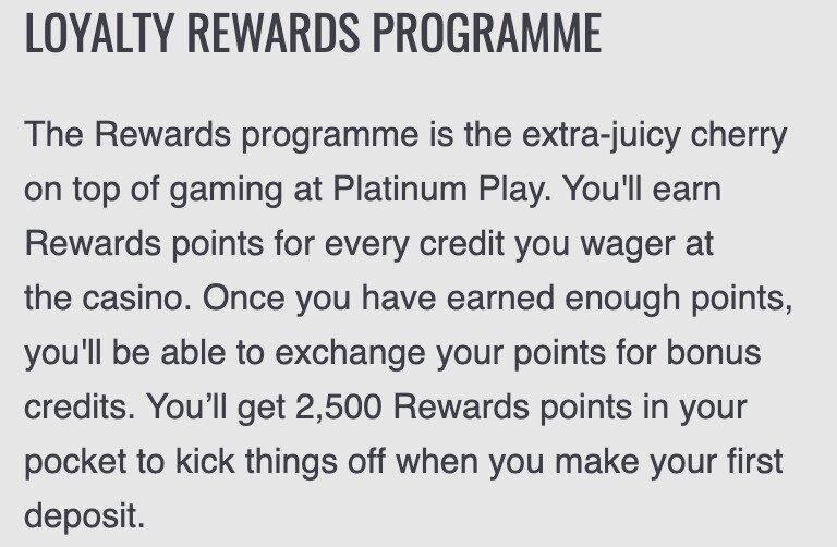 Platinum Play Rewards