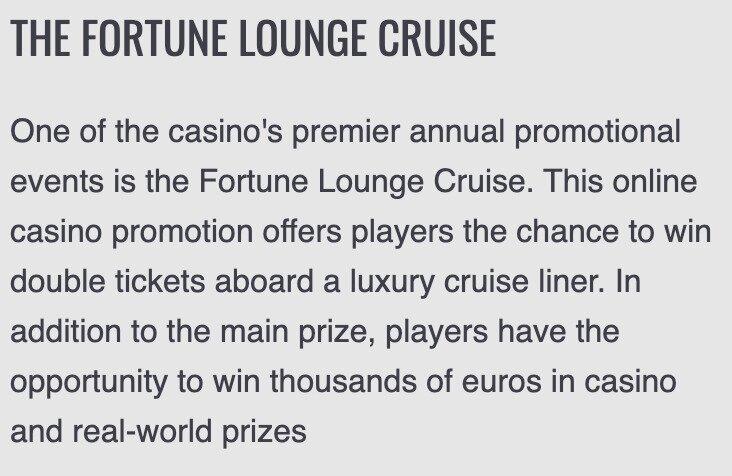 Platinum Play Lounge Cruise