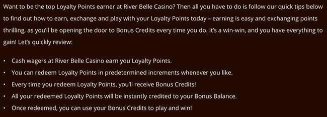 River Belle Loyalty Program
