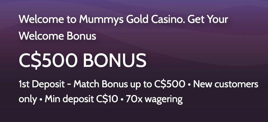 Mummys Gold Welcome Bonus
