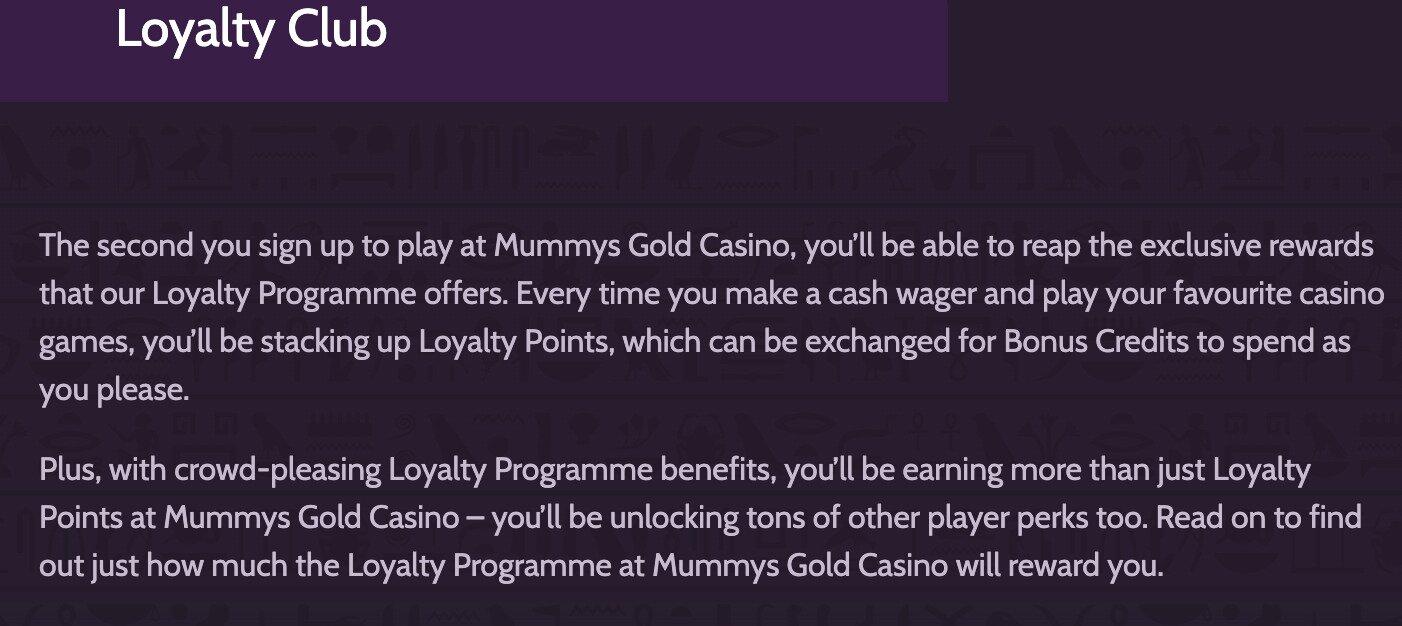 Mummys Gold Loyalty Program