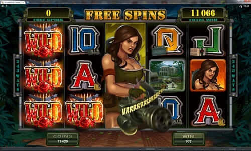Girls with Guns Slot machine - Maple Casino Canada