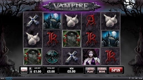 Nouvelle machine à sous - Vampire Princess of Darkness de Playtech