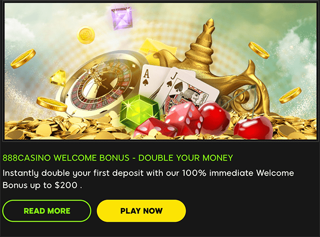 888 Welcome Bonus