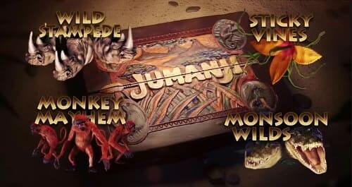 Jumanji Slot Machine de NetEnt