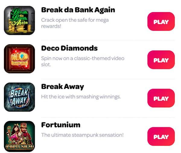 Spin Casino Online Slots