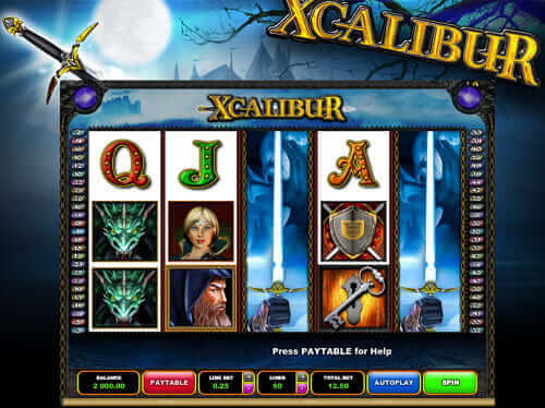 xcalibur-online-slot-machine
