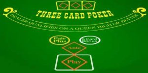 three card poker table