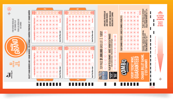 Daily Grind lottery ticket