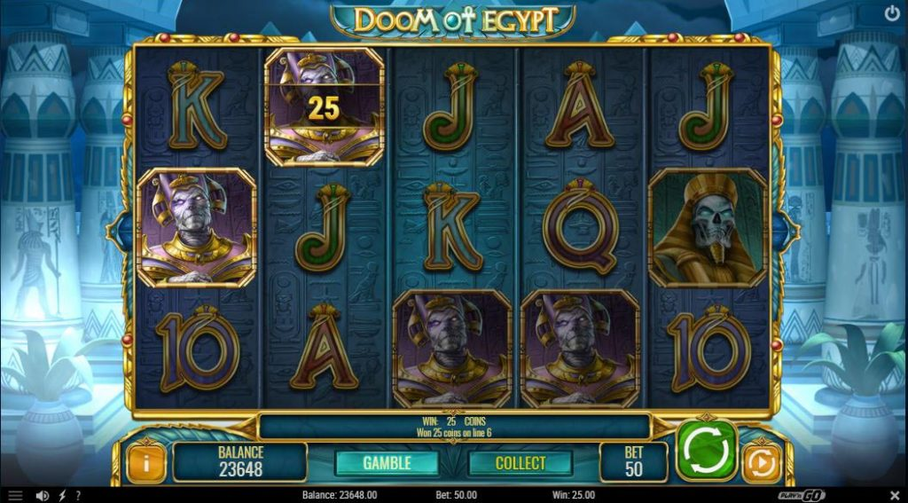 Doom of Egypt online slot game screenshot
