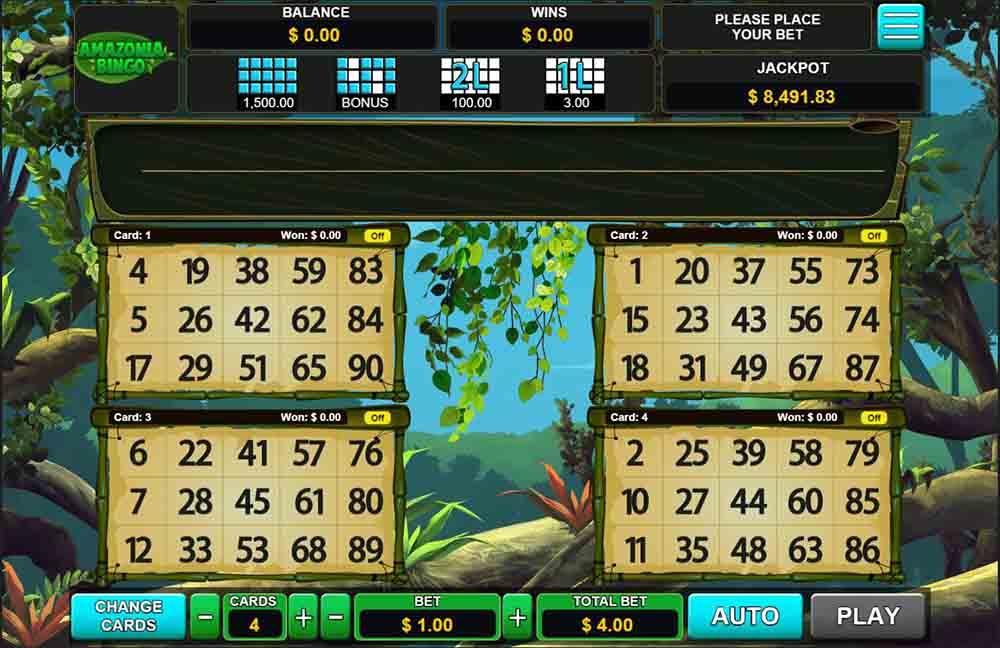Amazonia Bingo online game