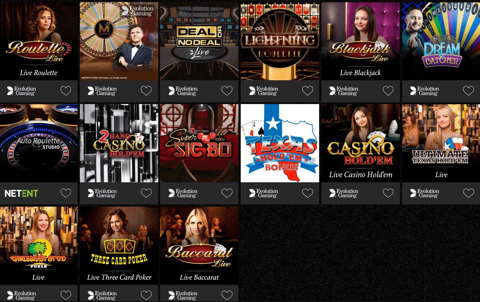 Casino Spins Casino Live Dealer Games