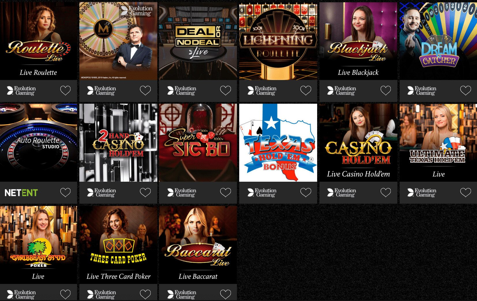 Casino Spins Casino Live Dealer Games