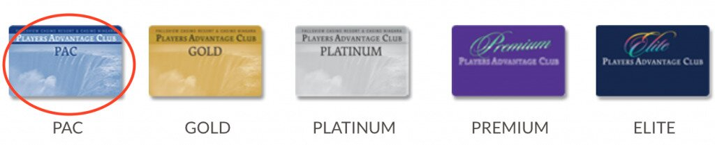 Fallsview Players Advantage Club Cards