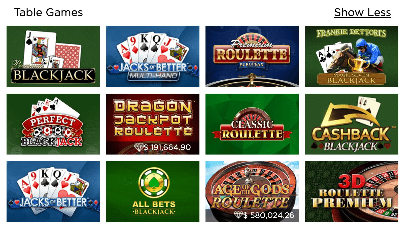 Casino.com Table Games