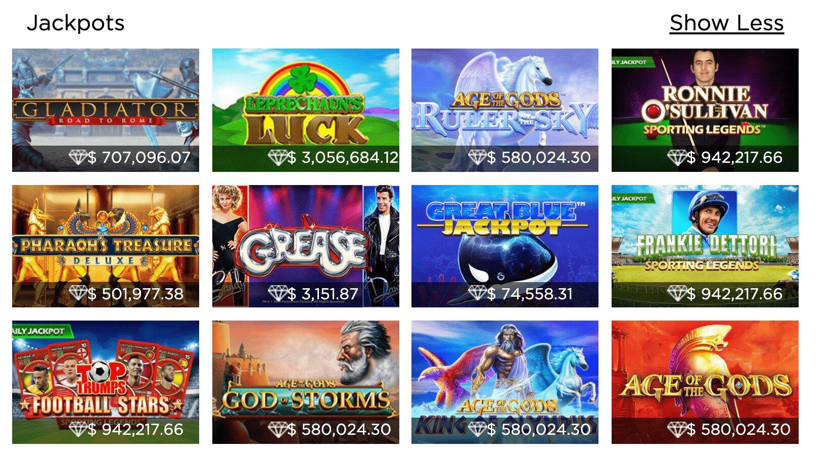 Casino.com Jackpot Games
