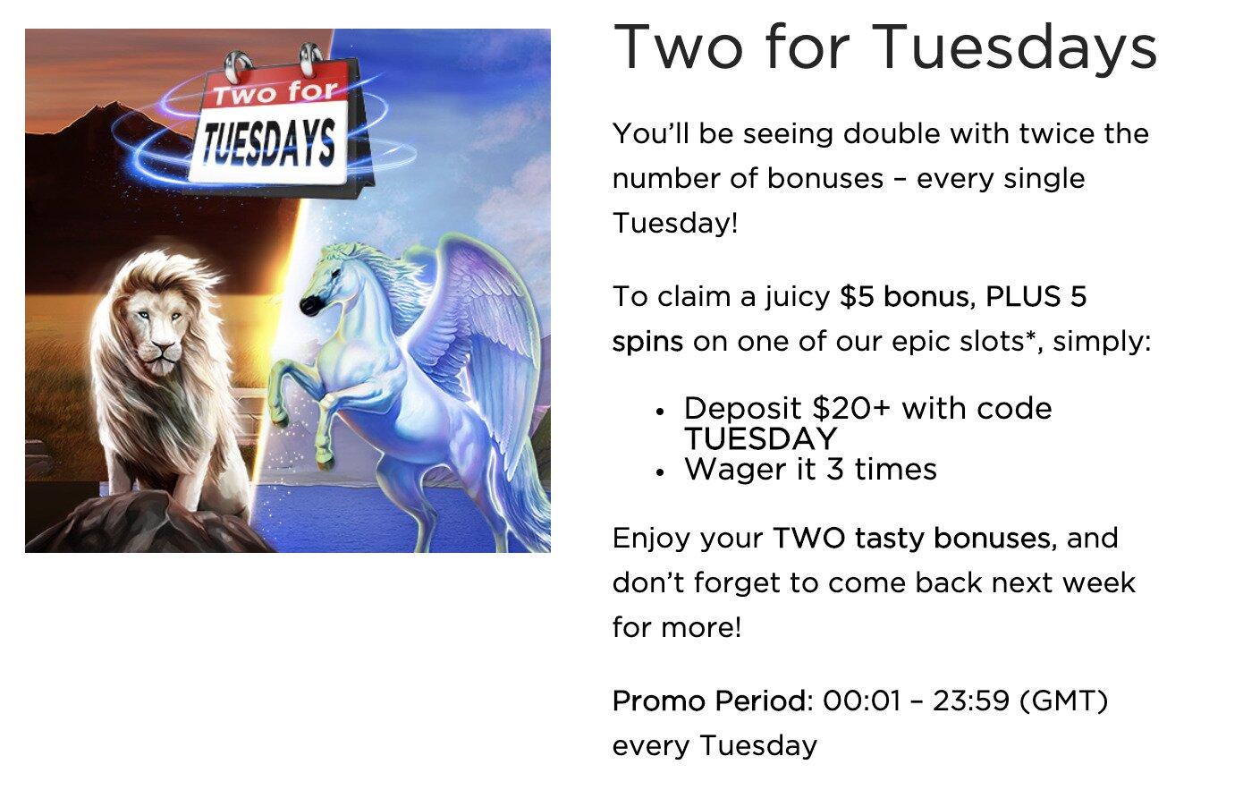 Casino.com Tuesday Deal