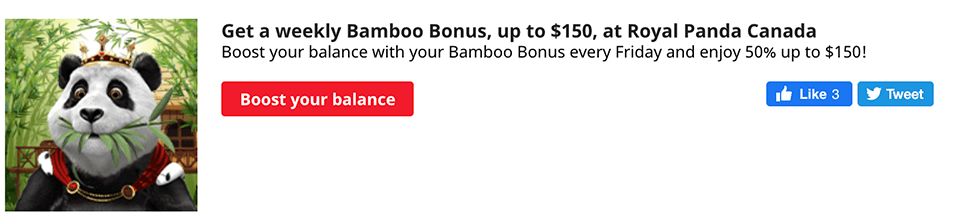 Royal Panda Bamboo Bonus