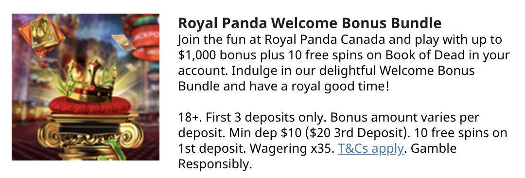 Royal Panda Welcome Bonus
