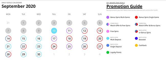 CasiGO Promo Calendar