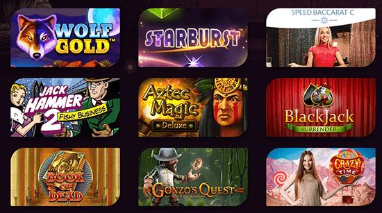 Casinonic top games