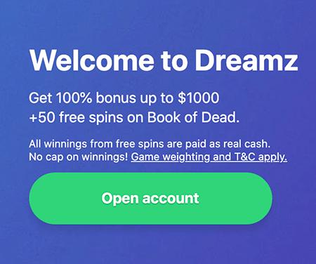 Dreamz Casino Bonus