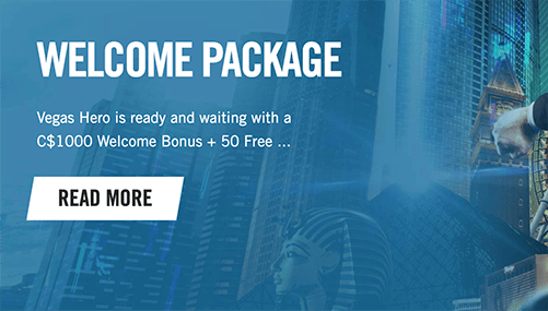 Vegas Hero Welcome Package
